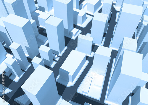 Abstract 3d cityscape.