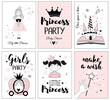 Little princess, posters for baby room, greeting cards, kids and baby t-shirts and wear, hand drawn nursery illustration