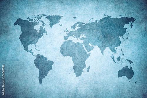 grunge map of the world. © javarman