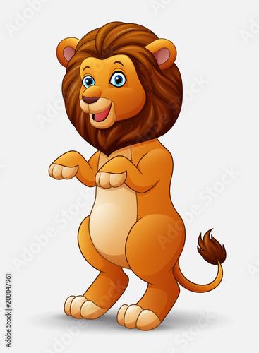 Aluminium Zoo Cute cartoon lion standing