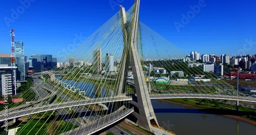 Wall mural Cable-stayed bridge in the world