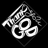 Thank you God.  Modern brush calligraphy.  Vector design.Hand drawing lettering. .