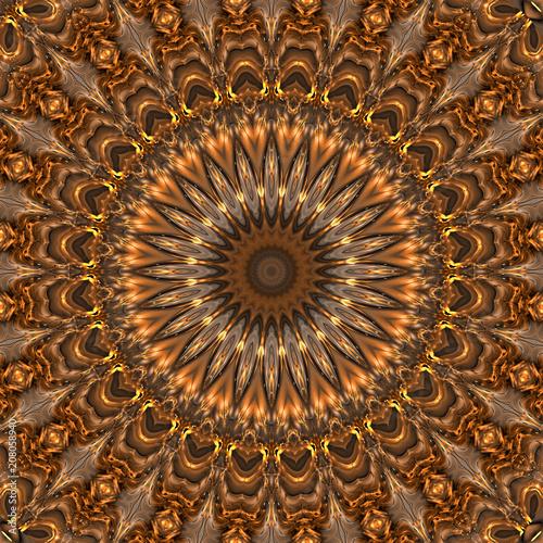 abstrakt fraktal polygonal mandala grafik