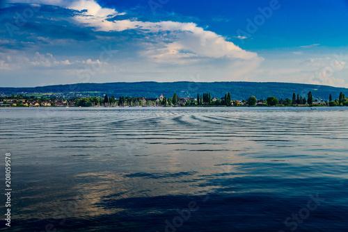 Aluminium Donkergrijs Island of Reichenau at Lake Conatsnce