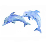 Dolphin watercolor raster. - 208065357