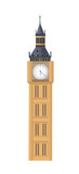 Big Ben in flat style isolated on white background. - 208071964