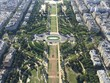 View of the Paris from top of the Eiffel tower