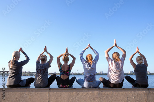 Fotobehang School de yoga Healthy and fly Yoga Concept