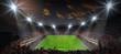 Leinwanddruck Bild - fussballspiel im stadion