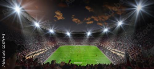 Leinwanddruck Bild fussballspiel im stadion
