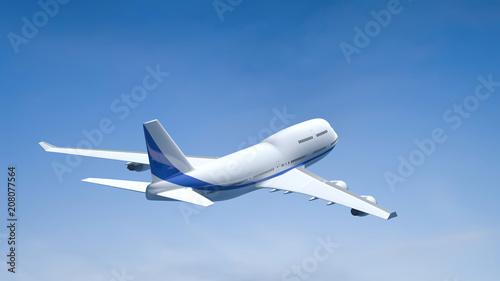 Fototapeta airplane in the blue sky