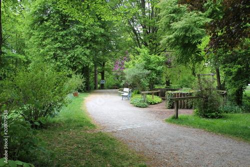 Aluminium Weg in bos parque