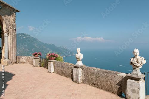 Ravello, Amalfi Coast, Italy. Terrace on the sea