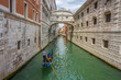 Bridge of Sighs famous landmark in Venice, Italy