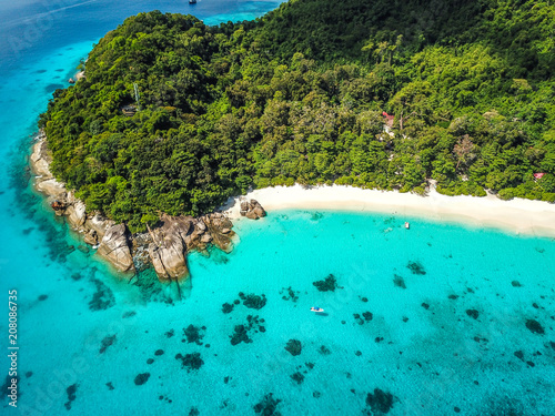 Fotobehang Turkoois Similan islands from above, Thailand