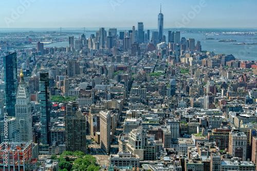 Wall mural aerial new york manhattan cityscape