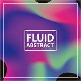 fluid abstract background with vibrant colors vector illustration - 208087740