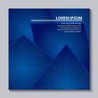 abstract covers background blue geometric shape frame vector illustration - 208088326