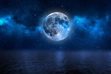 Mond Himmel Blau