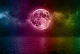 Mond Himmel Bunt