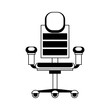 Office chair with wheels vector illustration graphic design