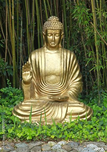 Aluminium Boeddha Bouddha doré
