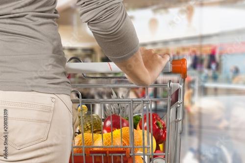 Leinwanddruck Bild Grocery.