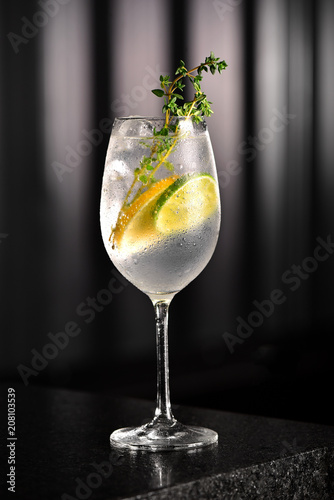 Foto Murales Gin cocktail glass