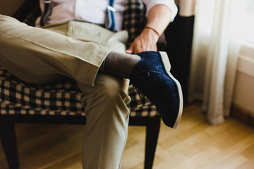 Men's shoes to dress by choosing the day of the wedding