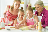 Mom and daughter cook  - 208115782