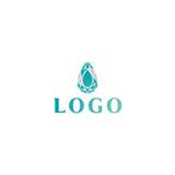 Trendy flat design crystal line logo - 208118142