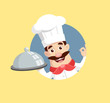 head chef Vector Illustration