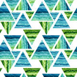 Seamless Pattern of Striped Triangles - 208126183