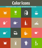 Food and kitchen icons set - 208127368