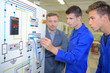 Students in electronics