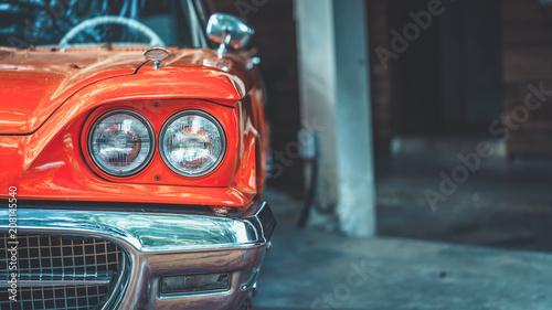 Foto Murales Vintage Car Headlight