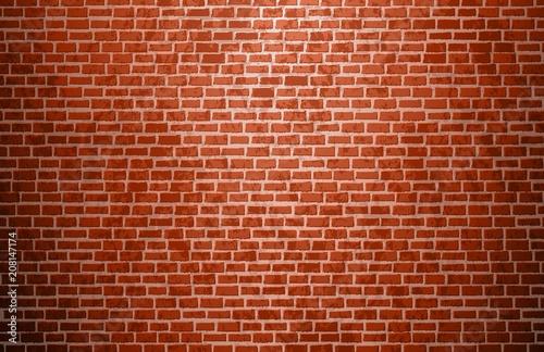 Realistic brick wall. Brick texture. Vector. - 208147174
