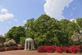 The Old Well at UNC Chapel Hill during the spring with azaleas blooming