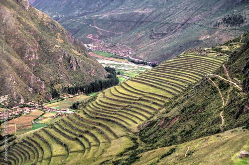 Aluminium Rijstvelden Ollantaytambo, Peru