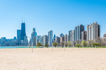 Chicago Skyline at North Beach © XtravaganT