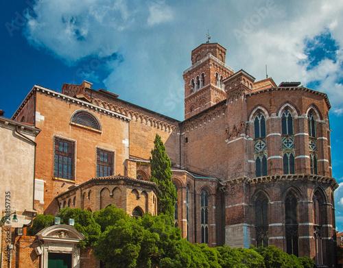 Medieval church in Venice, Italy
