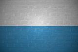 Flag of Bavaria on brick wall background, 3d illustration - 208175556
