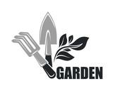 Gardening tools vector icon for gardener shop - 208192387