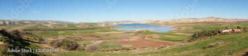 Canvas Blauwe hemel view on morocco