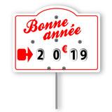Bonne année 2019 (étiquette boucherie) - 208195152
