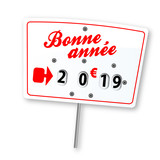 Bonne année 2019 (étiquette boucherie) - 208195196