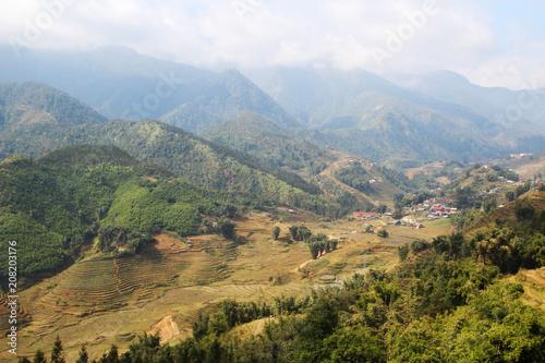 Aluminium Rijstvelden Sapa valley landscape, Vietnam