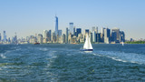 New York City Manhattan skyline from the sea - 208205154