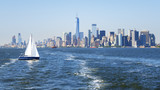 New York City Manhattan skyline from the sea