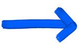 Gemalter blauer Pfeil zeigt nach rechts - 208212112
